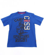 Boys Athletic Jersey Tee (8-20) Blue 18/20 (Xl)
