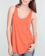 Rvca Women Clementine Tank Orange X-Small
