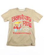Boys Bombay Run Tee (8-20) Olive 14/16 (L)