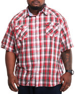 Men Exclusive Plaid Shirt (B&T) Red 4X