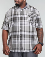 Men Short Sleeve 2 Pocket Silhouette Shirt (B&T) B