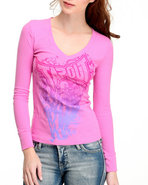 Tapout Women Thermal Tee Pink Large