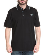 Men New Reprisal Short Sleeve Polo Black Large
