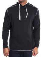 Men Solid Jersey Pullover Shirt Black X-Large