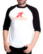 Men Monkey Raglan Tee Black X-Large
