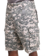 Men Vintage Paratrooper Cargo Shorts Camo Large