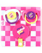 Girls 3 Pack Pacifiers (Newborn) Pink