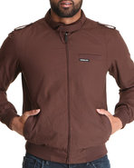 Men Iconic Racer Jacket Brown Large