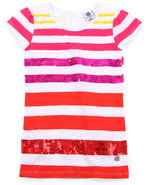 Girls Sequin Stripe Tee (7-16) Pink 7/8 (S)