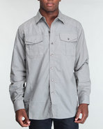 Mo7 Men Most Offical 7 Buttown Down Shirt Grey X-L