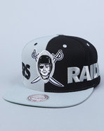 Men Oakland Raiders Nfl Split Snapback Cap