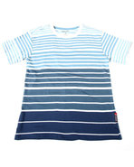 Boys Y/D Stripe Crew Neck Tee (8-20) Navy 18/20 (X