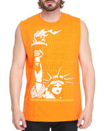 Men Liberty Stack Tank Orange Small