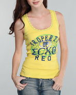 Women Active Tank Top Yellow Large