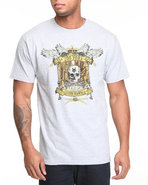 Men Alley Skull Tee Grey Small