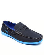 Men Strap Front Boat Shoe Navy 9