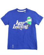 Lrg Boys Keep On Learning Tee (2T-4T) Blue 2T