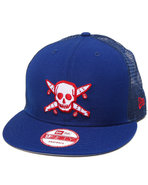Men Street Pirate New Era Mesh Snapback Cap Blue