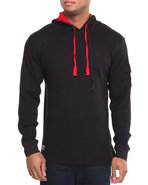 Men Takeover L/S Thermal Hoodie Black X-Large