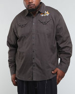Men Long Sleeve Shirt W/ Emb & Direct Chainstitch