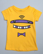 Lot29 Girls Basic Crew Neck Shark Tee (4-6X) Yello