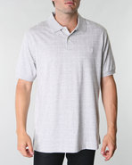 Men Summer Window Pane Polo Grey X-Large