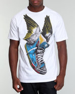 Men Take Flight V4 Tee White X-Large