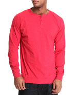 Men Fleshlight L/S Crew Knit Shirt Red X-Large