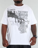 Men Brooklyn Tee (B+T) White 3X