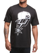 Men San Antonio Spurs Snap Back Team Logo Tee Blac
