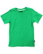 Boys Solid V-Neck Tee (4-7) Green 5/6 (M)