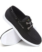 Coogi Men Louis 3 Chambray Boat Shoe Black 8.5
