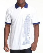 Men Bait & Tackle Graphic Polo White X-Large