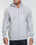 Men Full Zip Heavy Fleece Hoodie Grey X-Large