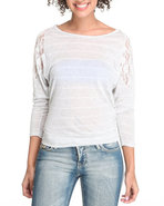 Women Honey Cup Basic 3/4 Sleeve Tee Off White Sma