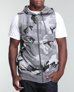 Men City Camo Hoodie Vest Camo Xx-Large