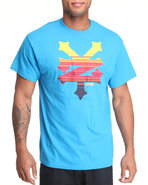 Men Cracker Sysmic Tee Light Blue Large