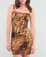 Xoxo Women Python Print Bustier Dress Animal Print