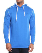 Men Solid Jersey Pullover Shirt Blue Xx-Large