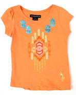 Girls Aztec Tee (2T-4T) Orange 4T
