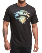 Men New York Knicks Shoe Pile 1 Tee Black Medium
