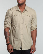 Men Rush Roll Up Shirt Khaki X-Large
