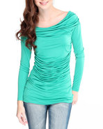 Women Off The Shoulder Top Teal Medium