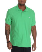 Men S/S Basic Pique Polo Lime Green X-Large