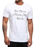 Men Devil Made Me Do It Tee White X-Large