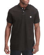 Men Solid Custom Fit Polo Shirt Black Large