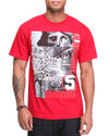 5Ive Jungle Men Montage Tee Red Large