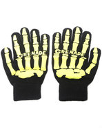 Men Skull Knit Gloves Black