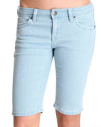 Women Basic Bermuda Light Wash 5