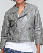 Women Rebecca Moto Jacket Grey Small